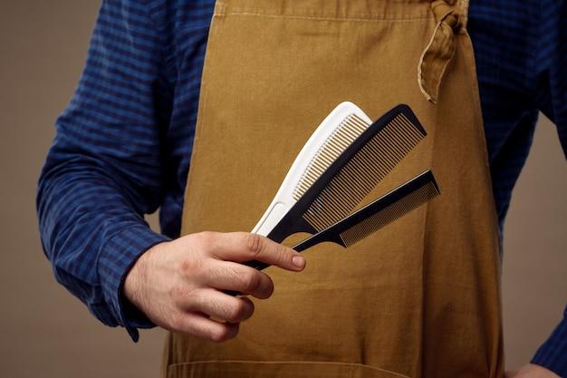 Levantamento masculino do cabeleireiro e barbearia