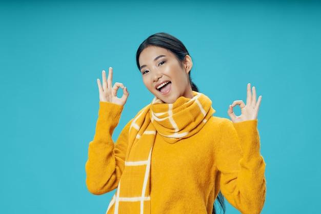 Levantamento modelo da mulher asiática