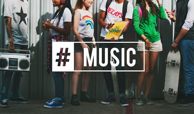 Liberdade positividade hipster música hipster