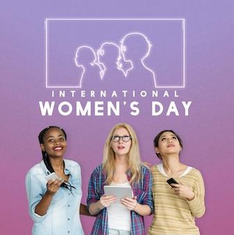 Libertação dos direitos de gênero da igualdade da mulher