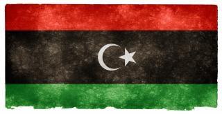 Líbia grunge bandeira negra