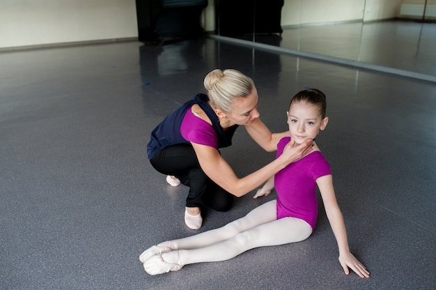 Lição de dança de salão, crianças