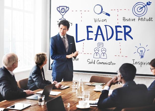 Líder autoridade chefe coach diretor gerente conceito