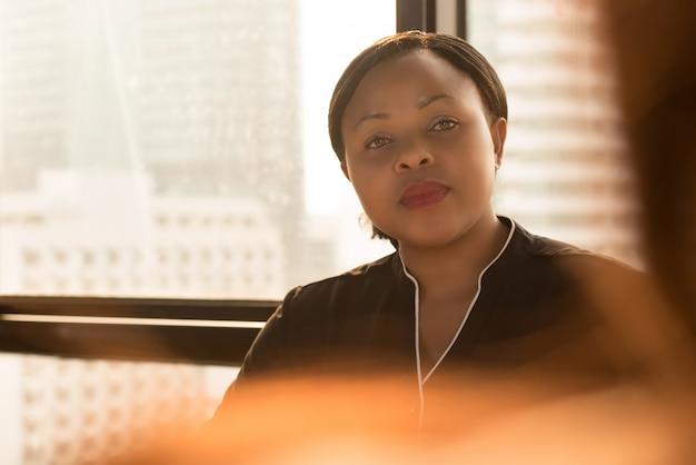 Líder de empresária preto poderoso