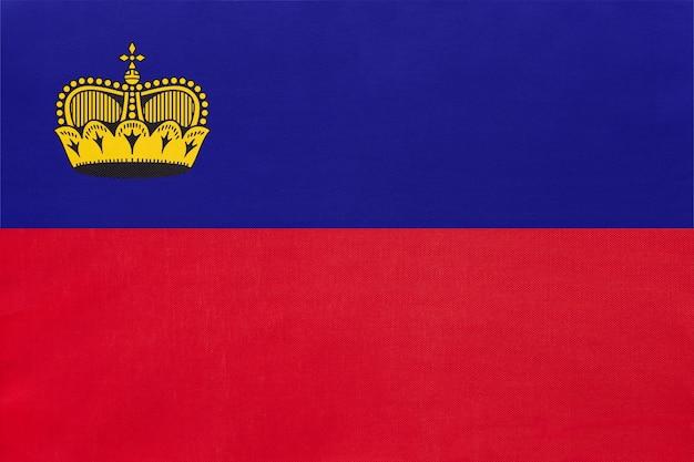 Liechtenstein principado tecido nacional bandeira têxtil