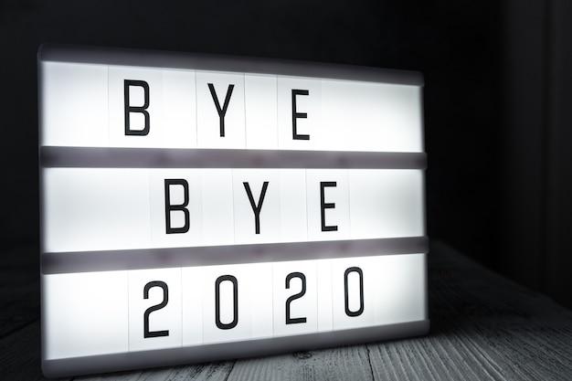 Lightbox com texto bye bye