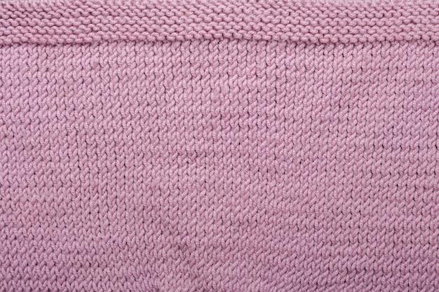Lilás tricô textura de lã de fundo textura de tecido de malha vista de cima cópia espaço