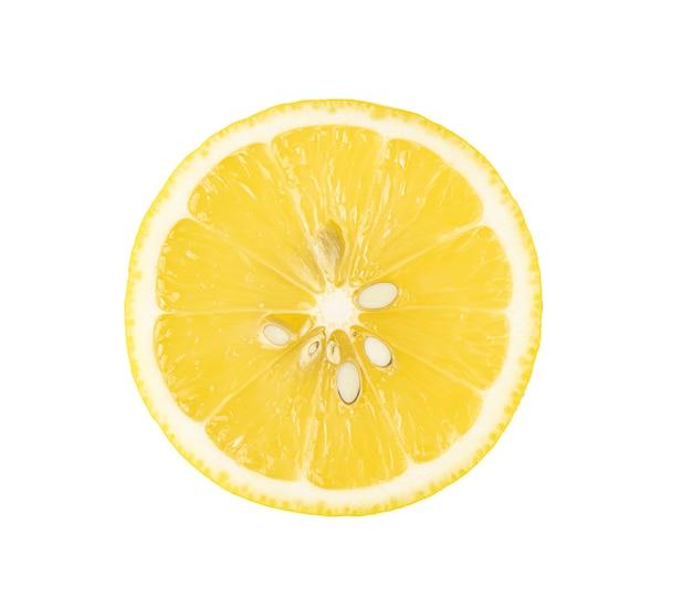Limão fatiado isolado no fundo branco