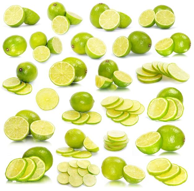 Limão fresco maduro isolado no fundo branco