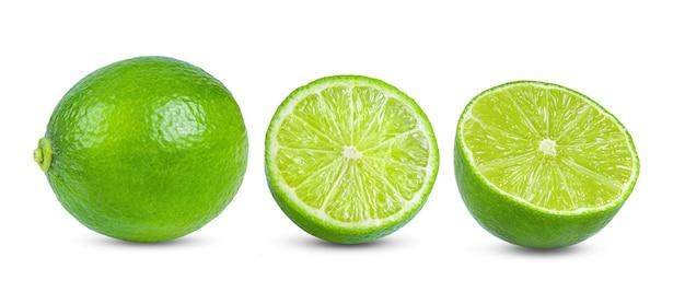 Limão isolado na superfície branca
