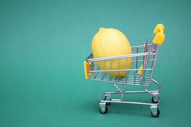 Limão no carrinho de compras