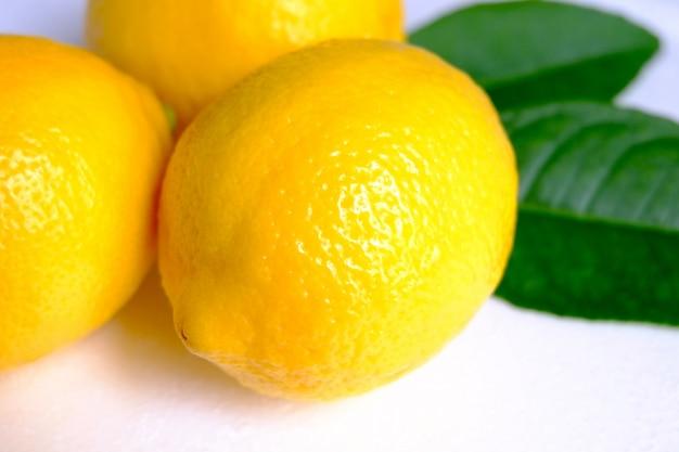 Limão no fundo branco