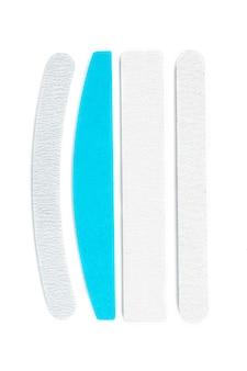 Limas de unhas isoladas no fundo branco