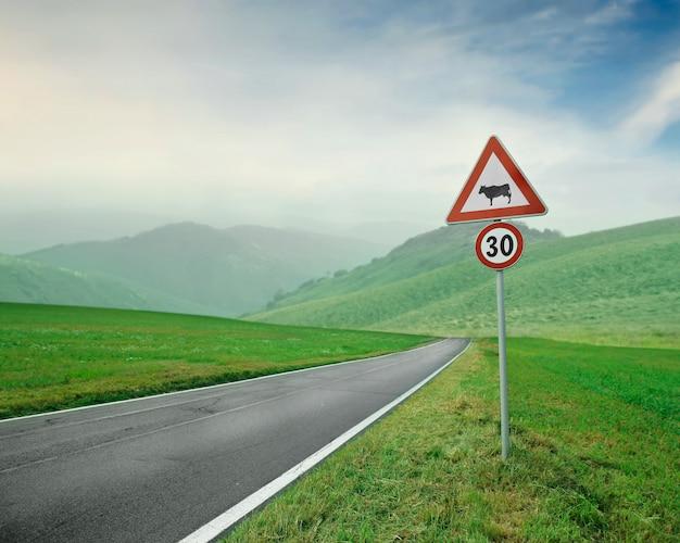 Limite de velocidade no campo