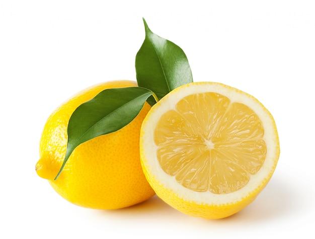 Limões com folhas