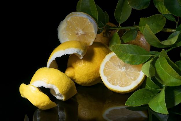 Limões e folhas