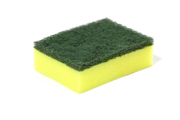 Limpadores de lã de fibras de nylon verde, detergentes, esponja de limpeza doméstica para limpeza