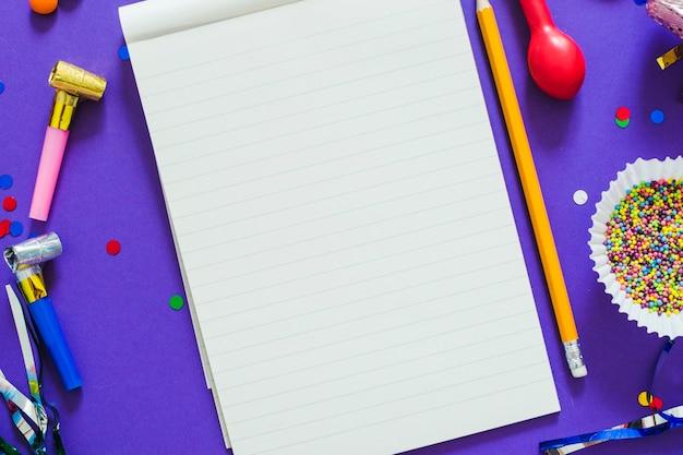 Limpar bloco de notas em itens do partido