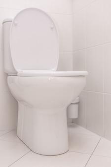Limpe o banheiro no banheiro. banheiro.