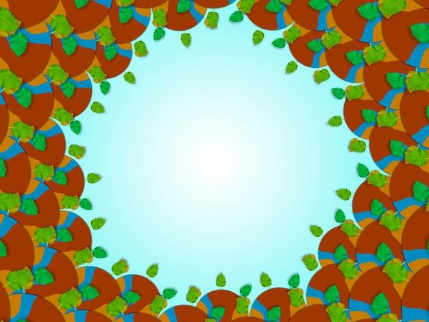 Limpe o plano de fundo do planeta terra, o conceito de ar limpo