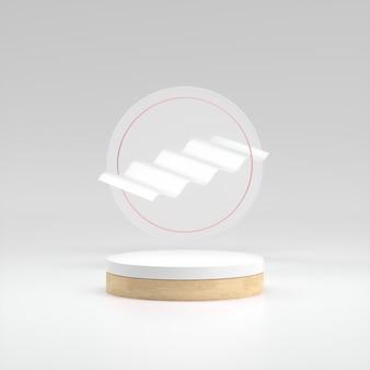 Limpe o pódio de madeira do cilindro com um círculo