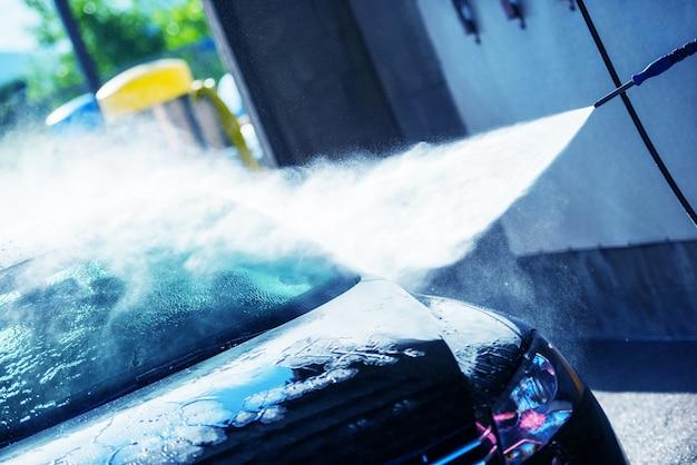 Limpeza de lavagem de carro manual