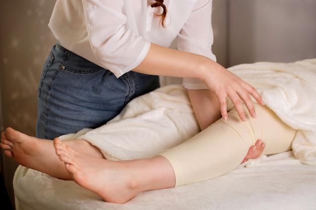 Limpeza do joelho de energia