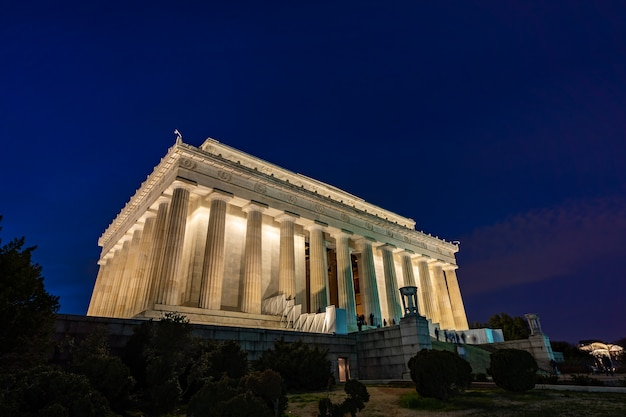 Lincoln memorial em washington dc, eua