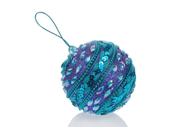 Linda bola de natal roxa azul