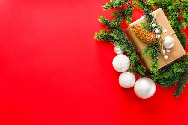 Linda caixa de presente de natal em cores