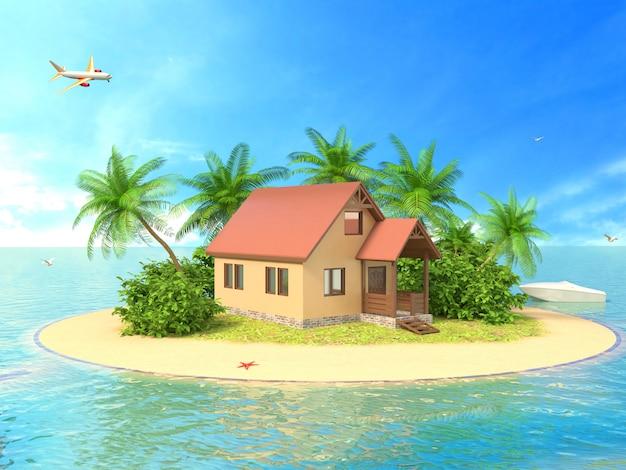 Linda casa na ilha