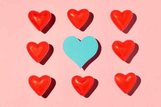 Linda composição de amor rosa