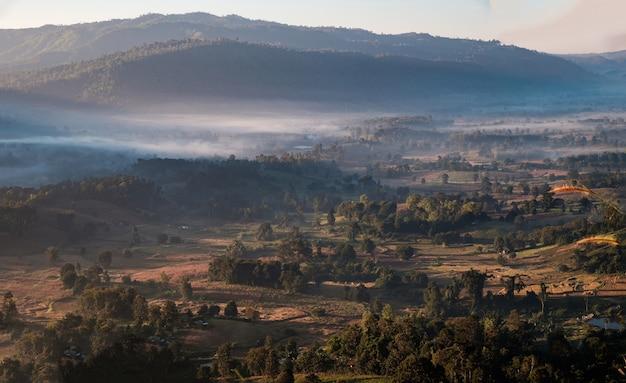 Linda das florestas, montanha. em khao pok lon, província de pitsanulok, tailândia.