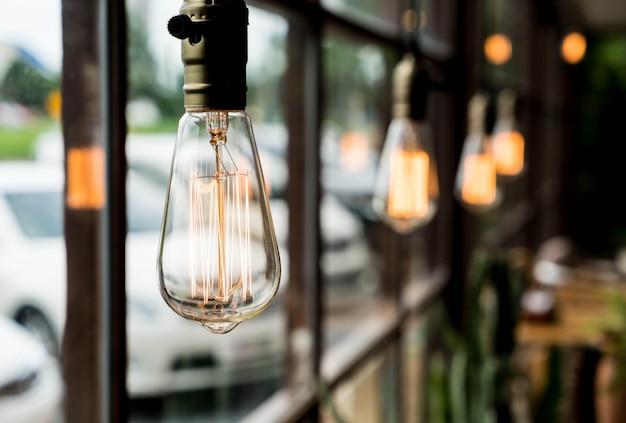 Linda decoração de lâmpada leve