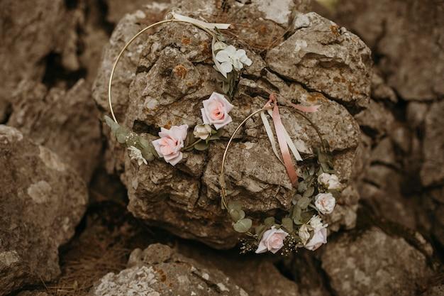 Linda decoração floral de dama de honra