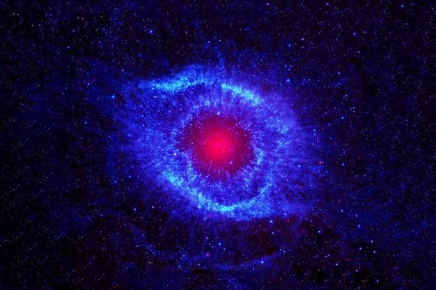 Linda galáxia azul com estrelas e sistemas os elementos desta imagem foram fornecidos pela nasa