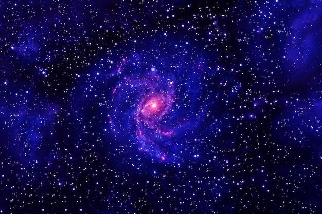 Linda galáxia azul no espaço profundo. elementos desta imagem fornecidos pela nasa. foto de alta qualidade