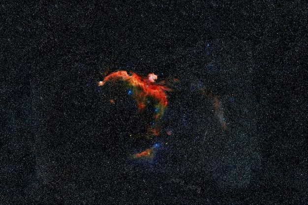 Linda galáxia multicolorida. os elementos desta imagem foram fornecidos pela nasa. foto de alta qualidade