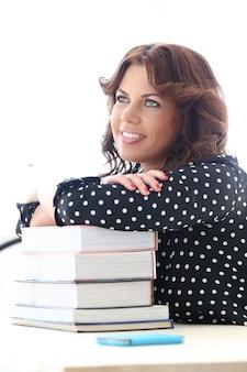 Linda garota com livros