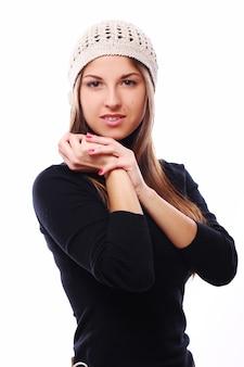 Linda mulher de chapéu
