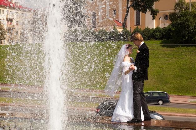 Linda noiva e noivo