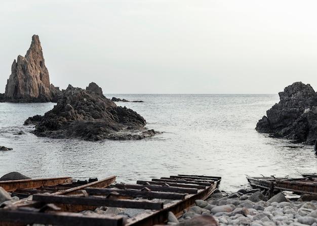 Linda paisagem com mar