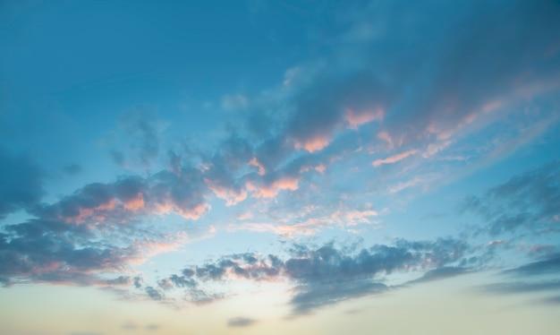 Linda paisagem de céu e nuvens