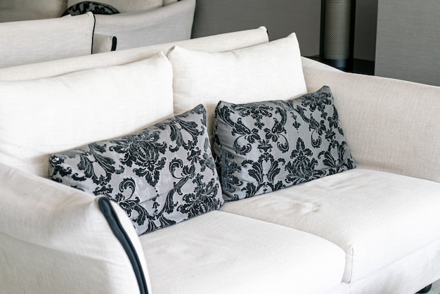 Lindas almofadas no sofá