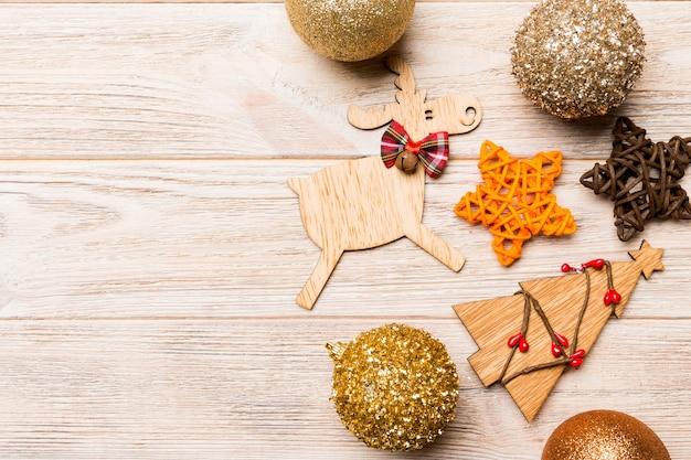 Lindas decorações de natal na mesa