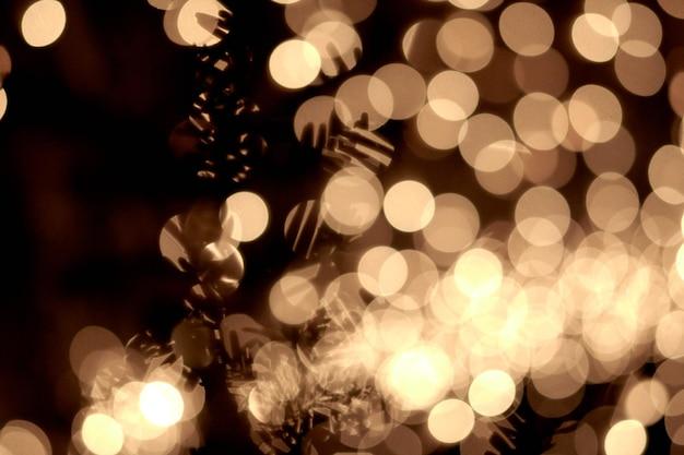 Lindas luzes de natal douradas abstratas