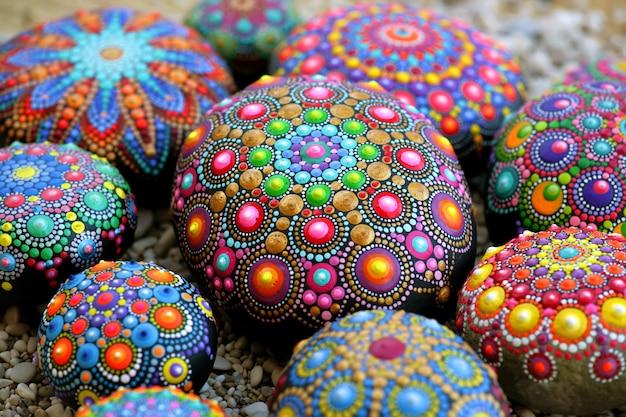 Lindas pedras de mandala
