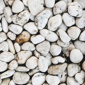 Lindas rochas e pedras brancas
