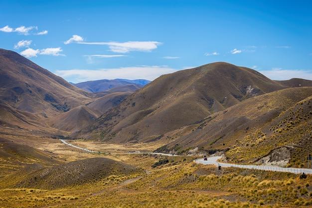 Lindis pass, região de otago, nova zelândia