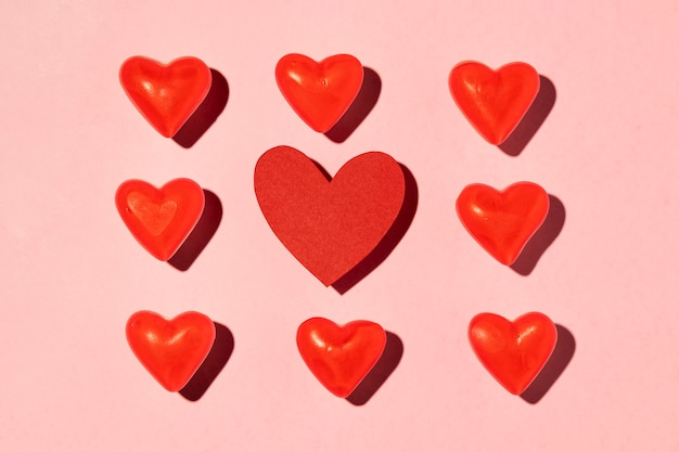 Lindo arranjo de amor rosa